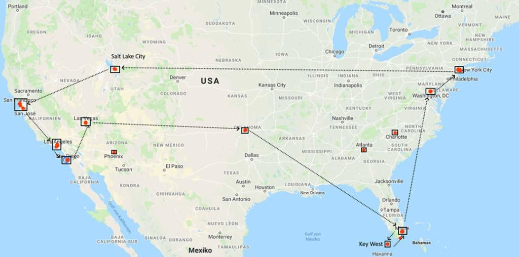 USA 2019: 10 Cities in 18 days (privately)