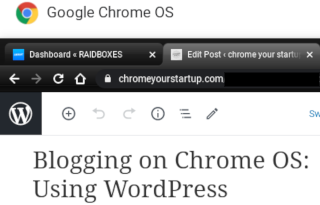 Blogging on Chrome OS: Using WordPress