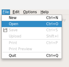 Opening a file with ksnip