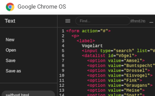 Blogging under Chrome OS: Editing code with syntax highlighting