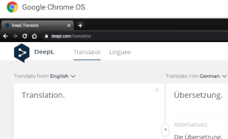 Blogging on Chrome OS: Translating texts in excellent quality