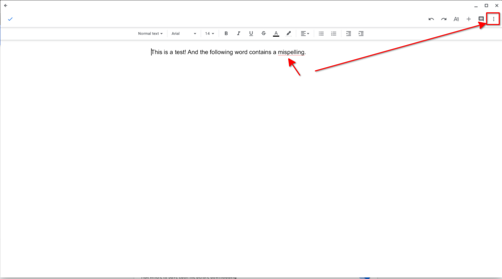Enable the Google Docs app's spell check for blogging on Chrome OS